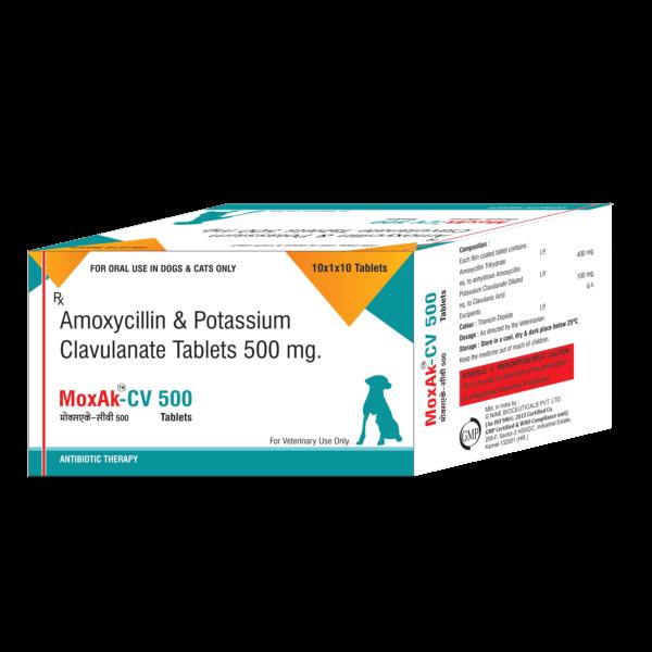 amoxicillin and potassium clavulanate tablets ip 500 mg